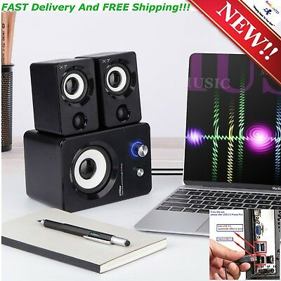 New USB Powered Computer Entertainment Speakers System For Gaming Music Movies