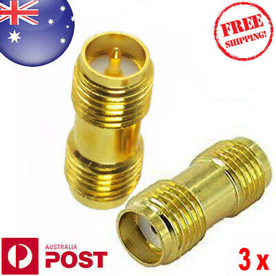3 x RP SMA RP-SMA (Fe-Male) To SMA (Female) - Joiner - Quality - Auspost Z125EF
