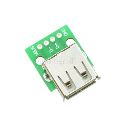 10X Type A DIP Female USB To 2.54MM PCB Board Adapter Converter For Arduino