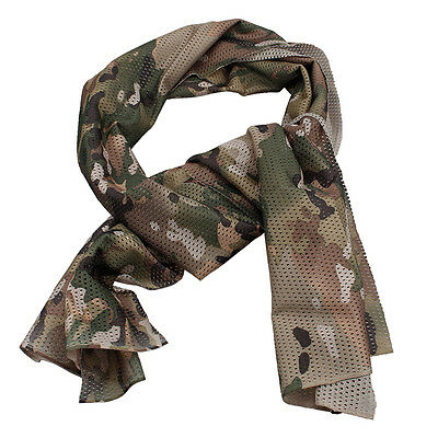 Bandana Scarf Mask Face Tactical Veil Mesh Cycling Airsoft Gear Military Duty