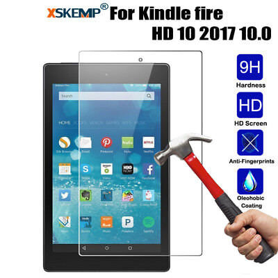 Genuine Tempered Glass Screen Protector For Amazon Kindle fire HD 10 2017 10.0