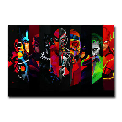 Black Panther 2018 Movie Posters Art Canvas Poster 8x12 24x36 inch