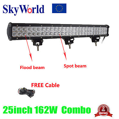 25inch 162W Led Work Light Bar Combo Wiring Driving ATV UTE SUV Offroad 4WD