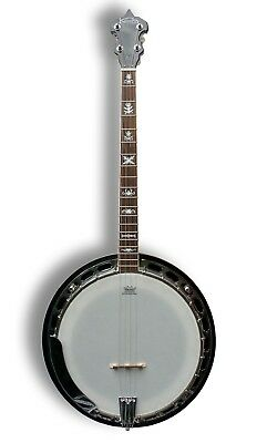 Koda FBG44 4 String 19 Fret 30 Brackets Tenor Banjo Geared Tuners with Bag