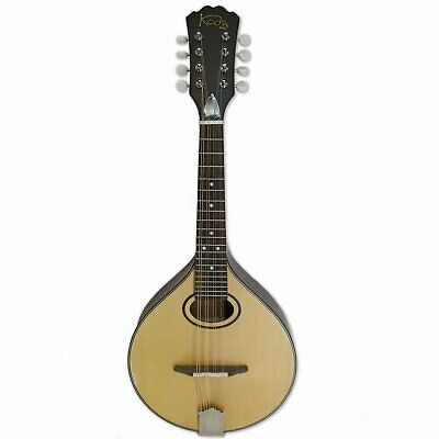 Mandolin Koda A50C A Style Oval Hole Natural Open Back Tuner w/ Plastic Buttons