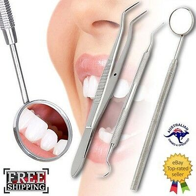 Dental Tartar Plaque Calculus Tooth Scraper Scaler Remover Mirror Tool Set Kit