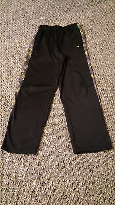 EUC Boys Russell Size XL (16) Black Soot Print Workout Pants Athletic w/Pockets
