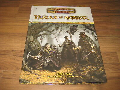 D&D 3.5 Edition Heroes of Horror Sourcebook  Hardcover WotC 2005 TOP