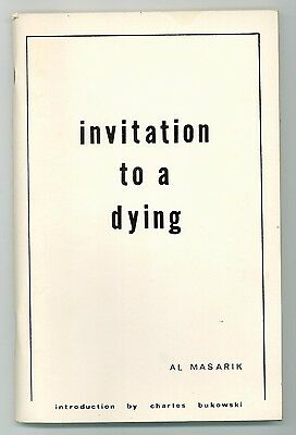 invitation to a dying - Al Masarik, introduction by Charles Bukowski