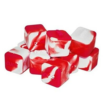Non-stick Shatter Concentrate Silicone Cure Cubes TOP QUALITY Red White 10 Pk