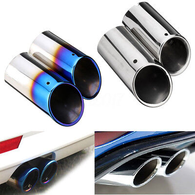 Stainless Steel Exhaust Tail Trim Muffler Pipe Tip For VW Golf Mk6 Mk7 Scirocco