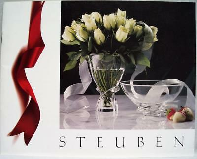 Steuben Art Glass Holiday Advertising Sales Catalog & Price Guide 1989 Vintage