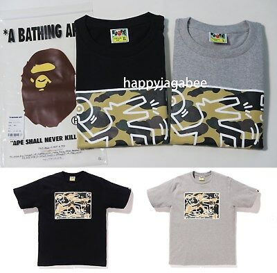 7a26741c A BATHING APE Men's BAPE x KEITH HARING TEE #6 2colors 1st Camo Yellow New