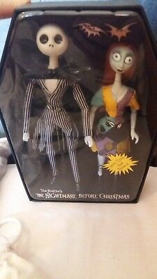 The Nightmare Before Christmas Limited Edition Jack & Sally Porcelain Dolls 4653