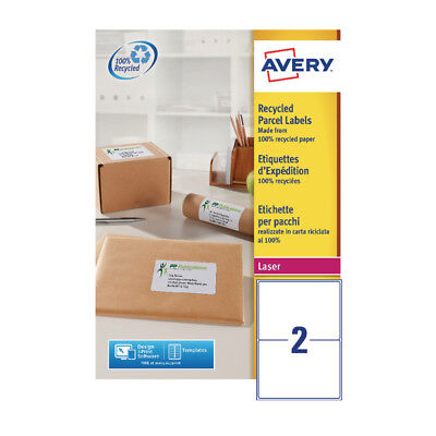 Avery Laser Shipping Label White 199.6x143.5mm 2 per Sheet (Pack of 100) LR7168-