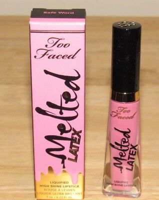Two Faced Melted Latex SAFE WORD Liquified High Shine Lipstick 0.23 Oz Full Size