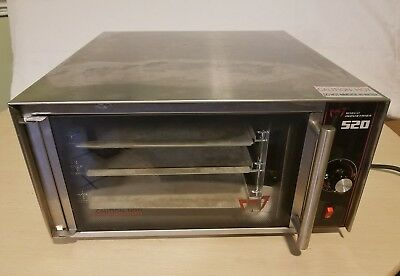 Wisco 520 Commercial Cookie Convection Oven Counter Top Stainless Steel