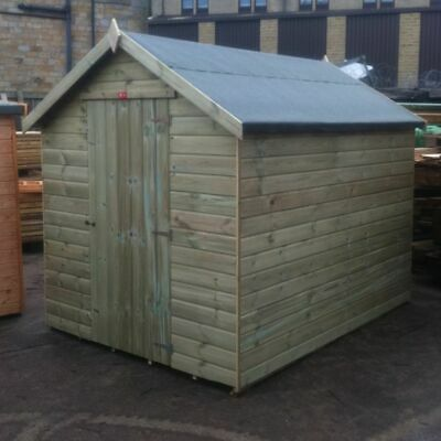 Tanalised Apex Garden Shed   14mm   Fully Tu0026G Pressure Treated Wooden Hut  Store