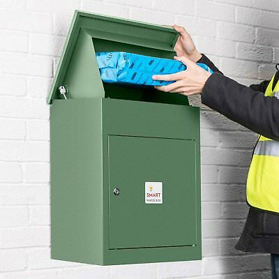 Mail Drop Box Large Wall Mounted Secure Parcel Mailbox Multiple Deliveries Green