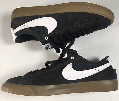 the best attitude 15b83 550f1 NIKE SB BLAZER LOW GT Black White Gum Bottom Skate Shoes Mens 11.5 US Zoom  Air
