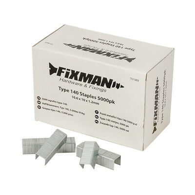 Fixman Type 140 Staples 5000pk 10.55 x 10 x 1.26mm | 701969