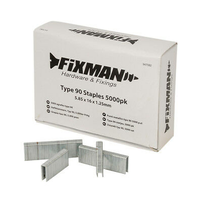 Fixman Type 90 Staples 5000pk 5.80 x 16 x 1.25mm | 947082