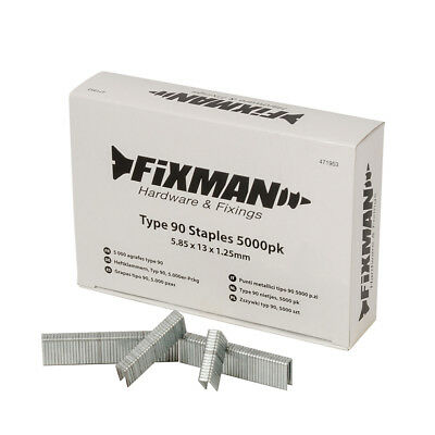 Fixman Type 90 Staples 5000pk 5.80 x 13 x 1.25mm | 471953