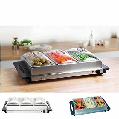 Kingavon BS100 3-Pan Stainless Steel Buffet Server and Warming Tray