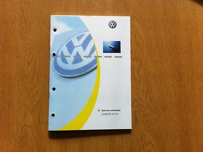 Genuine Vw Volkswagen Service Book For All Cars And Commercial Vans Genuine