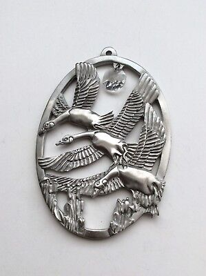 Hanging Decoration With A Crystal-Ocean Art Pewter Canada  Geese