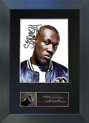 STORMZY Signed Mounted Autograph Photo Prints A4 692