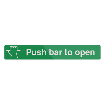 Fixman Push Bar To Open Sign 600 x 100mm Self-Adhesive | 468789