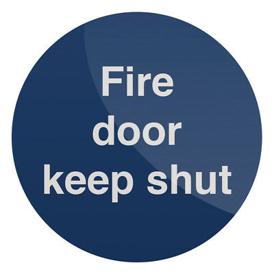 Fixman Fire Door Keep Shut Sign 100 x 100mm Self-Adhesive | 973210