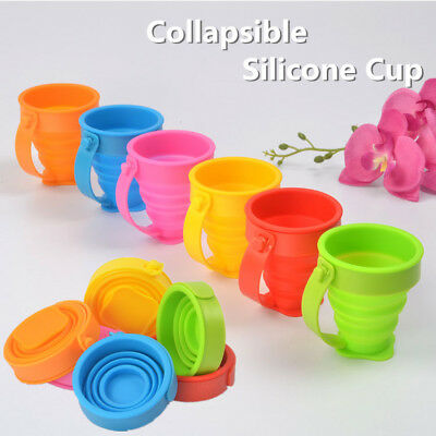 Silicone Collapsible Cup Folding Cup Portable Drinking Outdoor Travel Cup