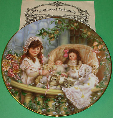 CATS IN THE CRADLE Sugar&Spice Sandra Kuck Doll Kitten Collector Plate New w/COA