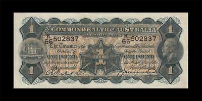 1927 AUSTRALIA KGV 1 POUND **Riddle & Heathershaw** (( EF ))