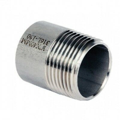 "Stainless Steel 316 Weld Nipple BSP 1/8"" To 6"" - Rated 150LB - Next Day Delivery"