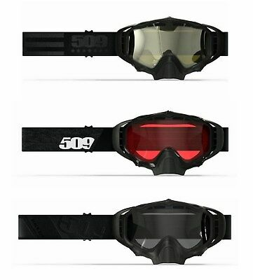 New 509 2018 Sinister X5 Black Ops, Spec Ops, Black w/Rose Snowmobile Goggles