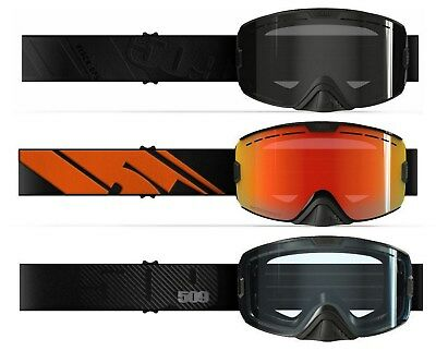 New 509 2018 Kingpin Black Ops, Black Fire, Carbon Fiber Snowmobile Goggles