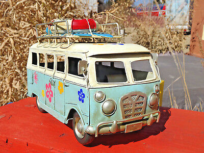 Bulli Camper Bus Power Flower Hippie Model Blechauto Deko Kult Retro Geschenk