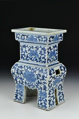 Antique Chinese Blue & White Porcelain Vase 18th / 19th Century