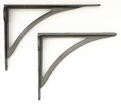 PAIR of Cast Iron Victorian Ironbridge Shelf Brackets – Simple Arch Wall Bracket