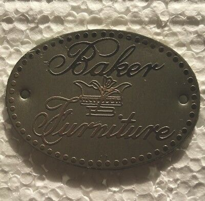 Baker Furniture Company Metal Tag Label