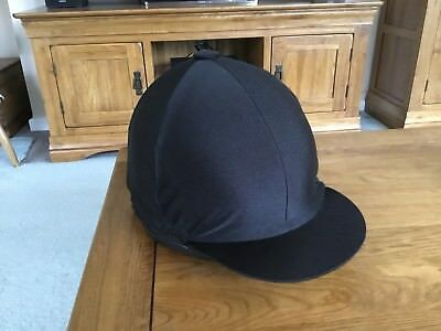 black riding hat silk