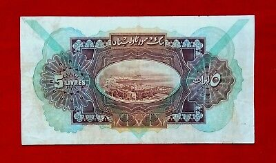SYRIA 1939 Bank Syria And Lebanon, 5 Syrian Pounds, IN SUPER CONDITION, RARE