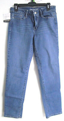 Nwt Ladies Calvin Klein Ultimate Stretch Blue Sea Size 10X30 Skinny # 0070