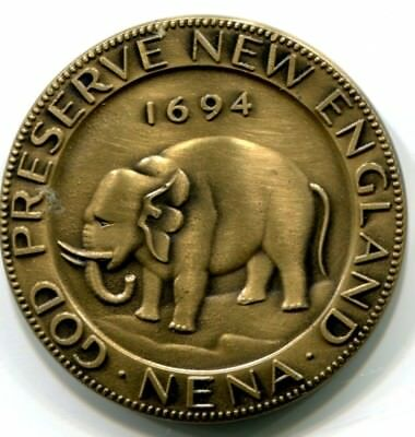 1964 NENA medal with image from 1694 Elephant token
