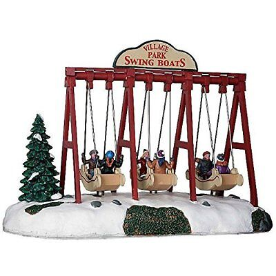 Lemax Animated Swing Boats Village Accessory