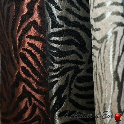 """Tigre"" Rideau Made in France jacquard Thevenon"