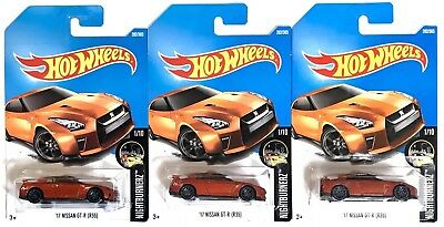New 2017 NISSAN GT-R R35 JDM Skyline HTF Hot Wheels International Card  Lot of 3